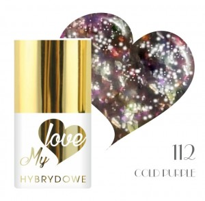 Lakier Hybrydowy MyLove Top Flakes UV/LED 112 Cold Purple