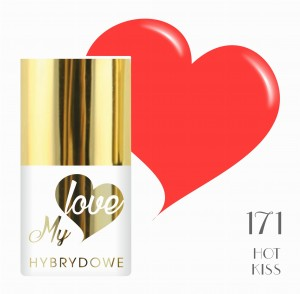Lakier Hybrydowy MyLove UV/LED 171 Hot Kiss