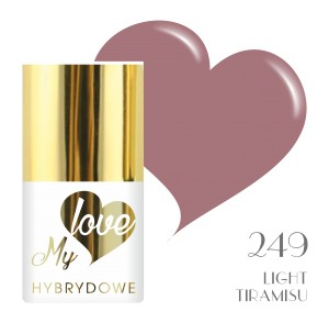 Lakier Hybrydowy MyLove UV/LED 249 Light Tiramisu