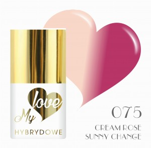 Lakier Hybrydowy MyLove UV/LED 075 Cream Rose